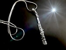 Flute Necklace With Crystal Stones
