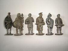 METAL FIGURINES SET - ROMANS SOLDIERS IRON VINTAGE - KINDER SURPRISE MINIATURES