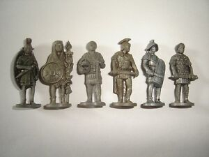 METAL FIGURINES SET - ROMANS SOLDIERS IRON VINTAGE - KINDER SURPRISE MINIATURES