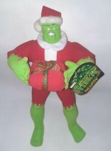 "2003 Marvel Christmas Santa Incredible Hulk Plush Doll NWT 15"" Kelly Toy"