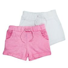 "BNWT BABY TODDLER GIRLS ""2 PACK"" SHORTS - SUMMER SHORTS - MULTIPACK"