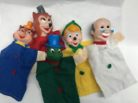Vintage Pinocchio Puppets Geppetto Wolves Jiminy Cricket Set Of 5 Italy 1999