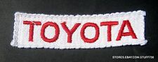 "TOYOTA EMBROIDERED PATCH PRIUS CAMRY AUTO ADVERTISING UNIFORM 4 1/2"" x 1"""