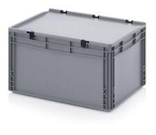 Eurobehälter 60x40x33,5 mit Deckel Stapelbehälter*Lagerbox*Stapelbox*600x400x335
