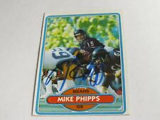 Mike Phipps Autographed Card JSA Auction Certified