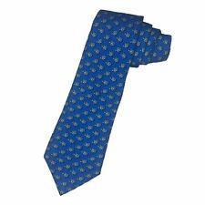 Vineyard Vines Boys Youth Blue Turtle Design 100% Silk Necktie Tie