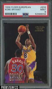 1996 Fleer European #233 Kobe Bryant Los Angeles Lakers RC Rookie HOF PSA 9 MINT