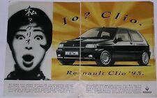 Advert Pubblicità 1992 RENAULT CLIO 16V