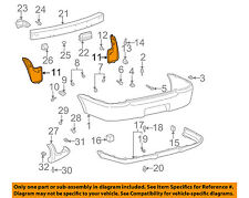 TOYOTA OEM 00-02 Echo Rear Bumper-Seal Right 5259152040