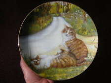 "zoe stokes 8 1/2"" The May Queen Cats Plate 1986 american artists Zoe'S Cats"