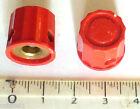 Lot 2 mini boutons rouge à point flèche blanc pour potentiomètre axe 6 mm NOS