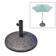 Schirmständer 12kg Sonnenschirmfuß Sonnenschirmständer 38/48mm Harz Bronze