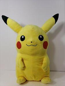 "Nintendo Pokemon Pikachu Backpack Plush Toddler Doll Small Bag Opening 18"" Tall"