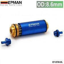 Blue Gold Universal Racing 100 Micron Metal Element In Line Fuel Filter