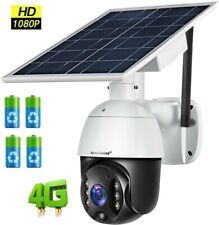 4G 1080P Solar PTZ IP Camera Security CCTV Waterproof Outdoor Night Vision
