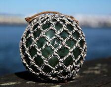 "Clover Marked HEYE old German Glass Fishing Float Ball buoy Maritime 5"""