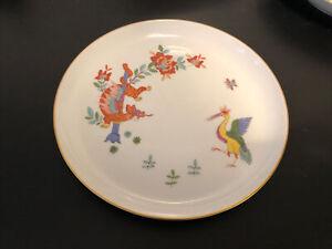 Meissen Chinesischer Drache und Storch, Wandteller, Ø 17,5 cm, sehr dekorativ ✨