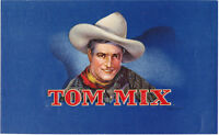 Tom Mix Vintage Embossed 1930's Cigar Box Label Western Cowboy Movie Radio Star
