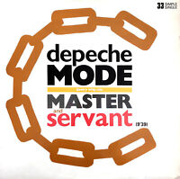 """Depeche Mode 12"""" Master And Servant (Slavery Whip Mix) - France (EX/VG)"""