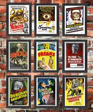 Clásico Retro Vintage De Alta Calidad de película de terror B Enmarcado Monstruo Película carteles
