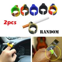 2x Noverlty Finger Protector Silicone Cigarette Holder Ring Smoke Accessory Chic