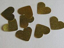 100 Gold Confetti Wedding Heart Table Bride & Groom
