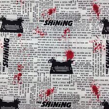 The Shining Stephen King cotton fabric by FQ horror movie Jack Torrance creepy