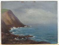 William AJ Claus 1880s Ptg Monhegan Headlands Listed Maine, Massachusetts Artist
