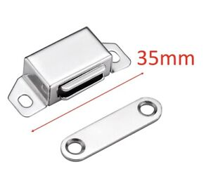 METAL Small Magnetic 35mm Door Catch Latch Cupboard Wardrobe Cabinet Drawer