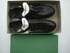 VIGORELLI VINTAGE LEATHER BICYCLE SHOES SIZE 41 NOS - NIB