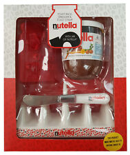 Nutella Chocolate Spread Boxed Gift Set Ceramic Toast Rack, Spreader & Stamp NEW