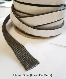 Stove Glass Sealing Tape - Fire Glass Rope - Flat Woven - Rope Seal