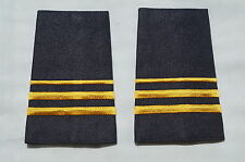 Canadian Fire Two 2 and a quarter 1/4 Bar Gold Shoulder Slip Ons Pair