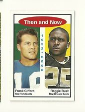 2006 Topps Heritage Then and Now #TN1 Reggie Bush Frank Gifford USC Giants Saint