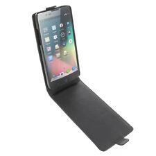 Funda para ZTE Blade L3 Plus protectora teléfono móvil con tapa Negra
