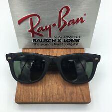 VINTAGE B&L RAY BAN W0670 BLACK G15 FOLDING WAYFARER SUNGLASSES
