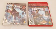 LOT OF 2 Games- UNCHARTED 2 For SONY Playstation 3 PS3 COMPLETE CIB