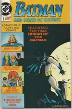 Batman and other DC Classics Promo comic from 1989
