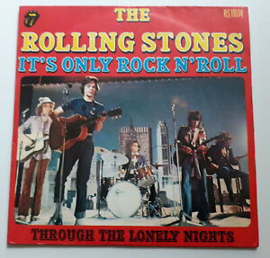 SP THE ROLLING STONES - IT'S ONLY ROCK'N ROLL (FRENCH PRESS PAPER YELLOW LABELS)