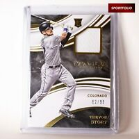 TREVOR STORY /99 Rookie RC RARE Jersey Card 2016 PANINI IMMACULATE COLLECTION