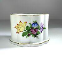 Herend Hungary Porcelain Cigarette Holder Toothpick Trinket Gold Trim 1839