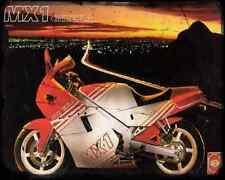 GILERA Mx1 125 88 1 A4 Metal Sign moto antigua añejada De