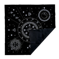 Constellation Tarot Table Card Cloth Divination Velvet 49cm Black Square