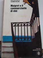 maigret il commerciante di vini Oscar Mondadori 1970 prima edizione