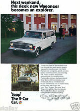 1970 Print Ad of Jeep Wagoneer Station Wagon