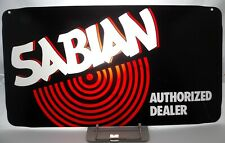 SABIAN Vintage1990s ORIGINAL AUTHORIZED DEALER PLEXI SIGN FACEPLATE 23.5 x 12.75