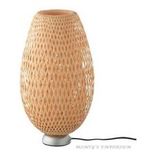 NEW IKEA BOJA Table Lamp Bamboo/Nickel Plated Home Office Study