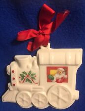 Original package Lenox Holiday Christmas Train Cookie Press Ornament (w/ Santa)