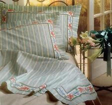 Luxury Italian Classic Design Floral 100% Cot. Double Bed Set Linen Bright Green