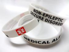 SEIZURE DISORDER Medical Alert Wristband Silicone bracelet non epilepsy NEAD